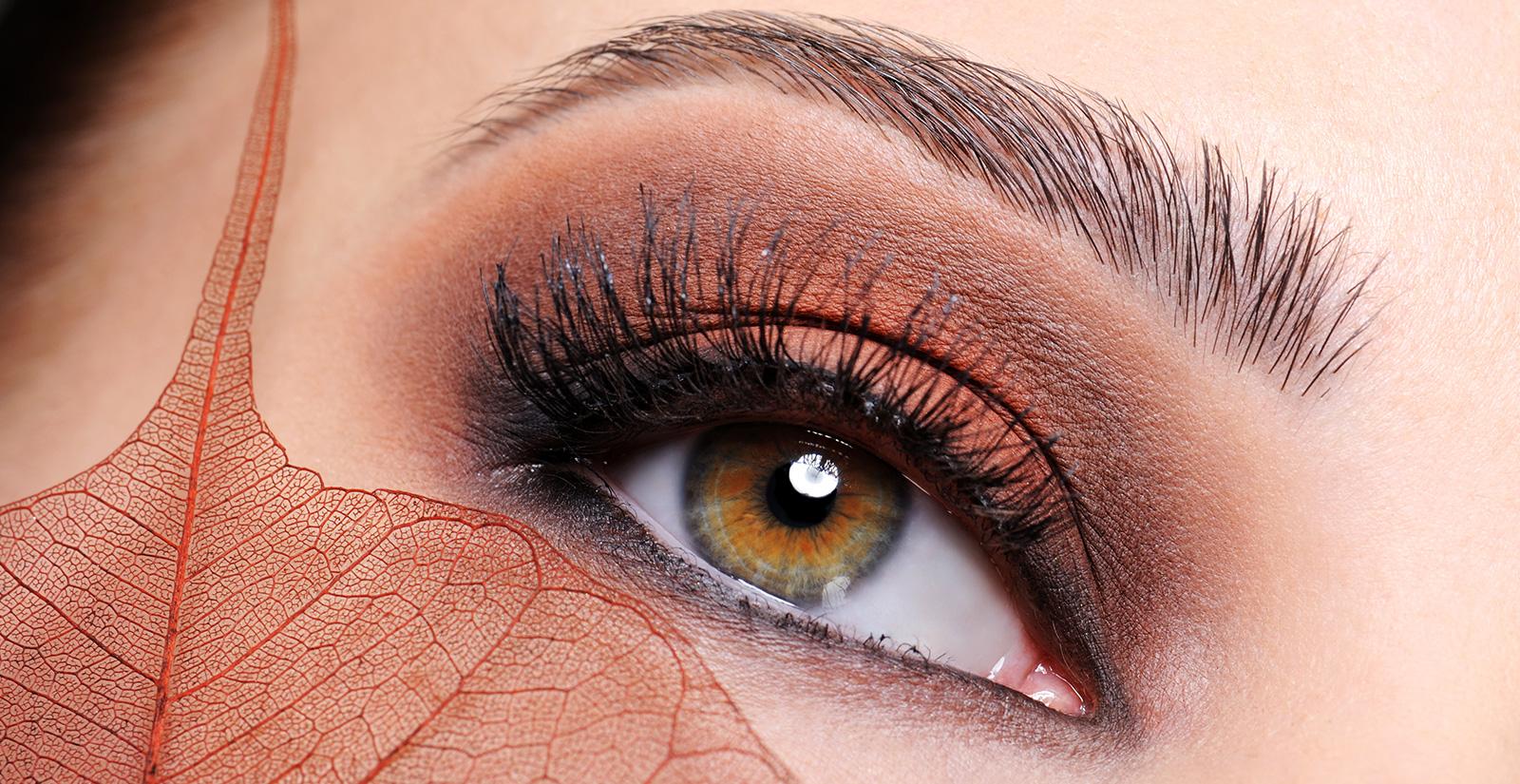 Eye brows eye lash extensions